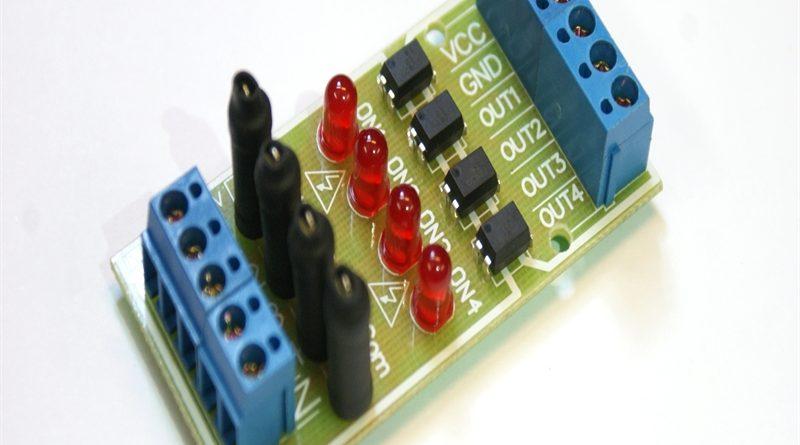 ماژول آشکارسازی ولتاژ 220 ولت AC چهار کاناله ایزوله شده