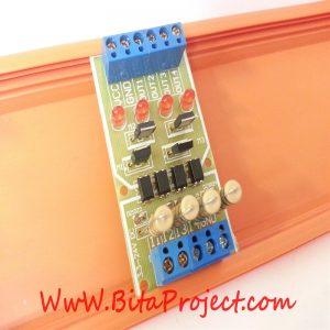 مبدل سطح ولتاژ 3/3 ولت تا 24 ولت DC تک کاناله ایزوله شده