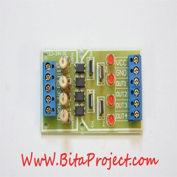 ۳.۳ to 24V four Channel Isolation Module Board Level Voltage Converter [bitaproject] (2)