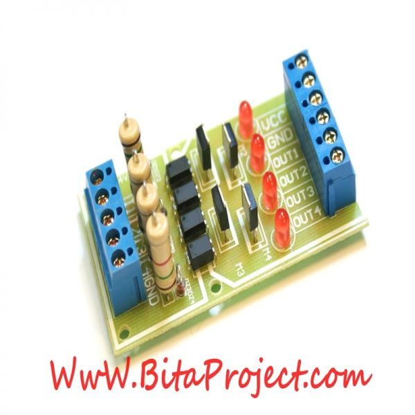 ۳.۳ to 24V four Channel Isolation Module Board Level Voltage Converter [bitaproject] (3)