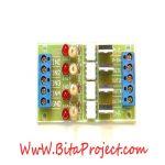 ماژول مبدل سطح ولتاژ 3/3 تا 18 ولت DC به سطح ولتاژ 220 ولت AC چهار کاناله ایزوله شده